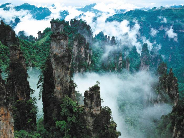 Китай горные районы ландшафты район