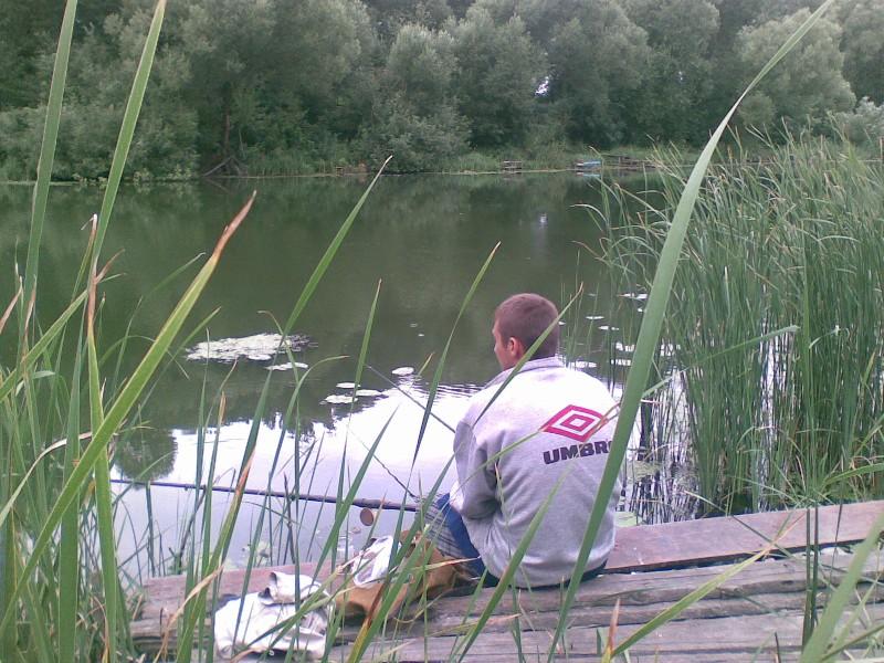 рыбалка на пруду в солнцево